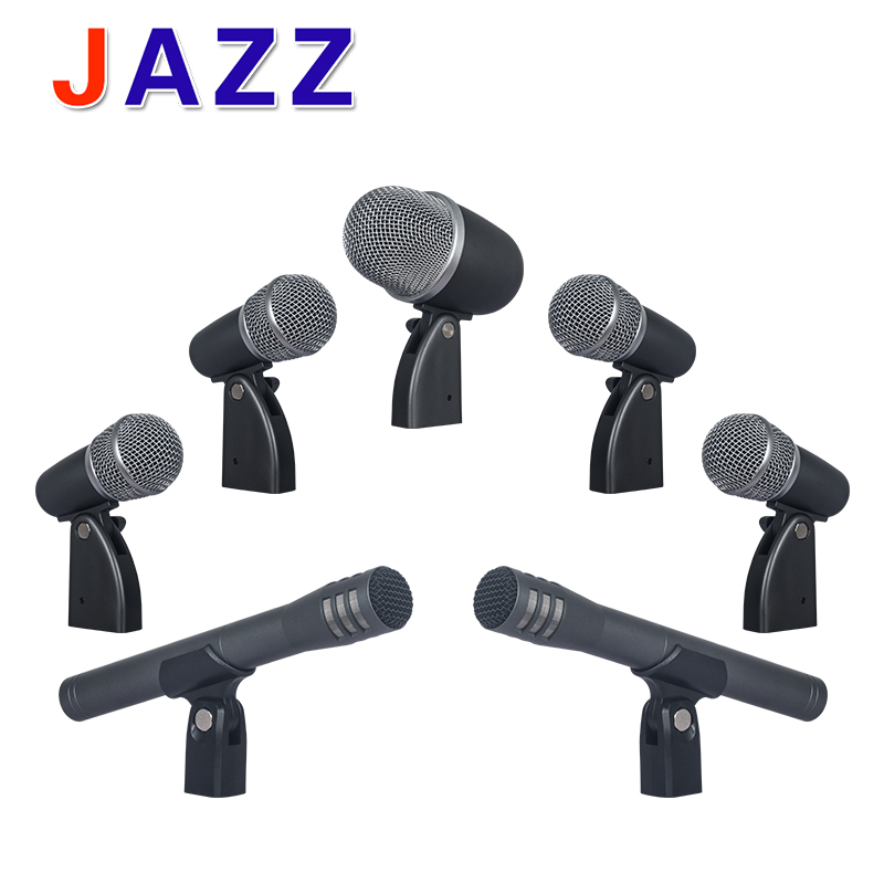 New arrival!Seven suit drum microphone / instrument microphone / drums / bass drum microphone supercardioid dynamic microphone