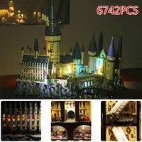 Лепин 16060 6742 шт. LegoINGlys Харри Поттер серии Хогвартс большой зал Строительные блоки Кирпич развивающие игрушки, совместимые