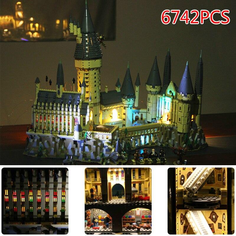Lepin 16060 6742 pz LegoINGlys Harri Potter Serie Hogwarts Sala Grande Blocchi di Costruzione di Mattoni Giocattoli Educativi Compatibile