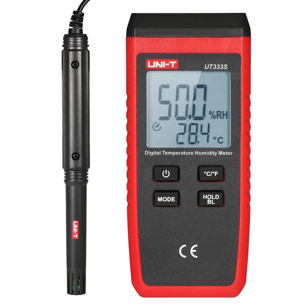 UT333S Mini Digital Thermometer Hygrometer Temperature Humidity Meter LCD Digital Thermo Hygrometer Psychrometer Tester