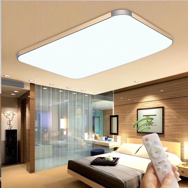 US $50.0  Stufenlose dimmen moderne Led deckenleuchte Durch fernbedienung  plafon led Deckenbeleuchtung Für Wohnzimmer Schlafzimmer 220 v 230 v 240 v  ...