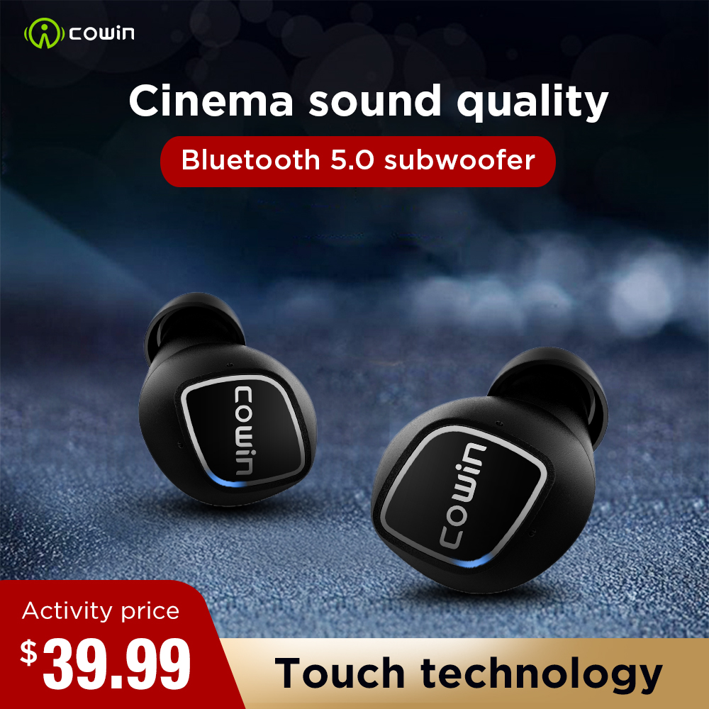 Cowin ky02 Bluetooth Headset 5.0 Sports True Wireless Earbuds Touch Headset Waterproof 3D Stereo with Microphone Charging Box