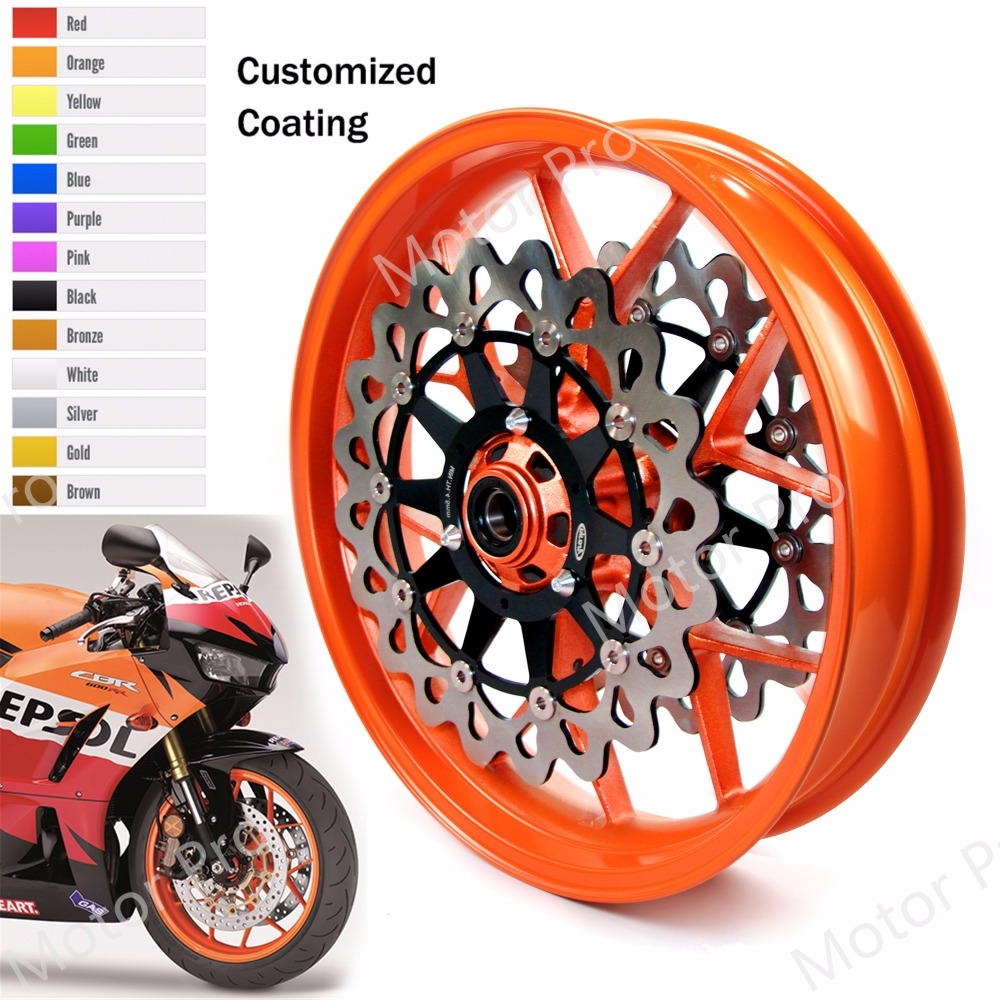 все цены на For Honda CBR1000RR 2006 - 2017 Front Wheel Rim Brake Disc CBR 1000 RR CBR1000 2007 2008 2009 2010 2011 2012 2013 2014 2015 2016 онлайн