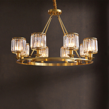 JAXLONG Modern Retro Pendant Lighting Crystal Living Room Hanglamp Bedroom Restaurant Light Industrial Dining Reading Study