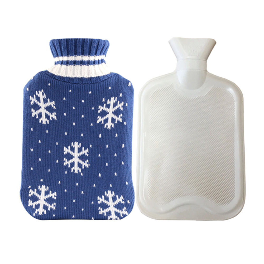 Navidad tejer botella de agua caliente Elk copo de nieve patrón ...