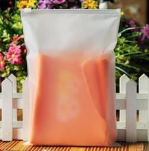 100 PC 10*15 ซม.หนาหนาพลาสติกซิปล็อคกระเป๋าเครื่องสำอาง Matte พลาสติกถุงซิปซิป TRAVEL กระเป๋าขนาดเล็กกระเป๋าพลาสติก