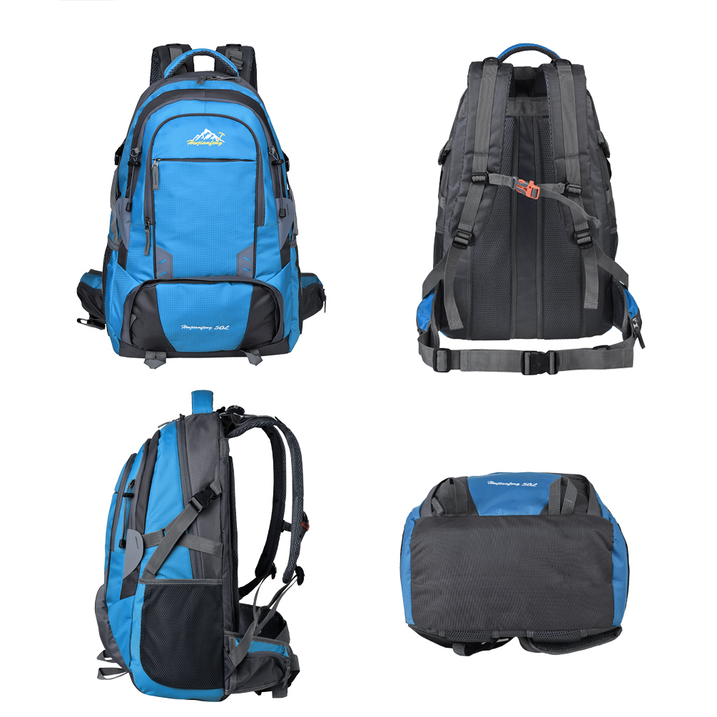 Vbiger 50L Male Backpack Large-capacity Casual Shoulders Bag Multi-functional Unisex Trekking Backpacks With Waist Strap