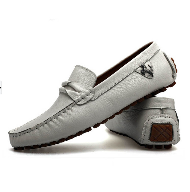 Men loafers shoes men fashion sneakers genuine leather flats shoes 2015  quality brand design male driving boat shoes moccasins 00e4997ce9