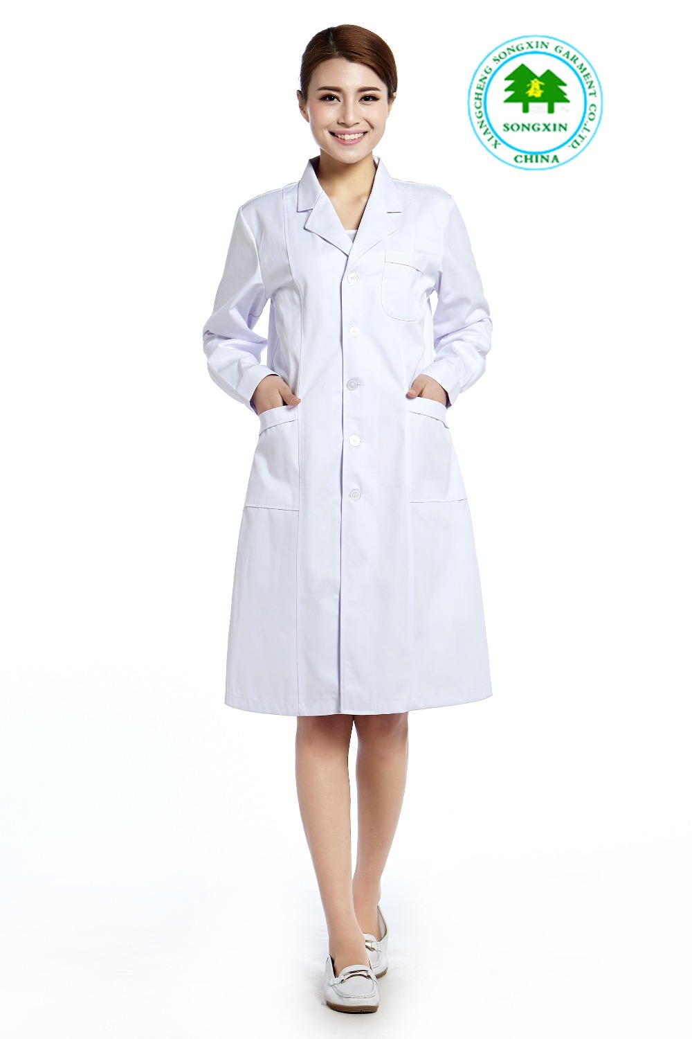 Free Shipping Oem Hospital Uniform Lab Coat Doctor