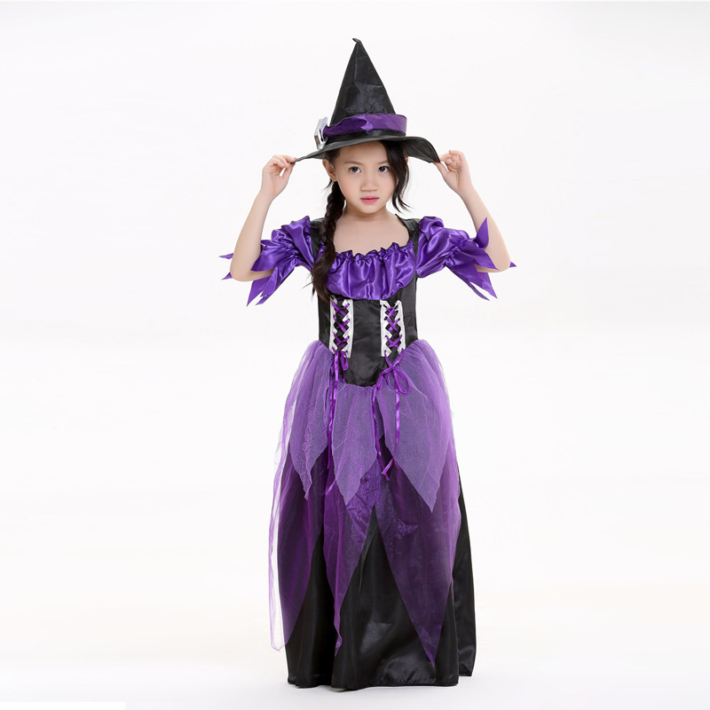 Halloween children cosplay costume  costume  wizard witch acting suits party costume tricky or treat make up dress
