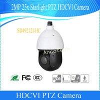 Бесплатная доставка Dahua WDR безопасности оригинальный английский CMOS 2MP 12X Starlight ИК-ptz HDCVI камера купольная без логотипа SD49212I-HC