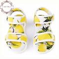 Zapatos de los niños sandalias de las muchachas 2017 muchachas de la manera de la marca zapatos de verano sicilia lemon imprimir niños sandalias de las muchachas de la princesa de lujo