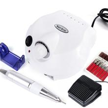 Broca para unhas pro, máquina lixadeira para manicure com ferramenta elétrica, conjunto de 30000rpm, preto e branco, acessórios para manicure