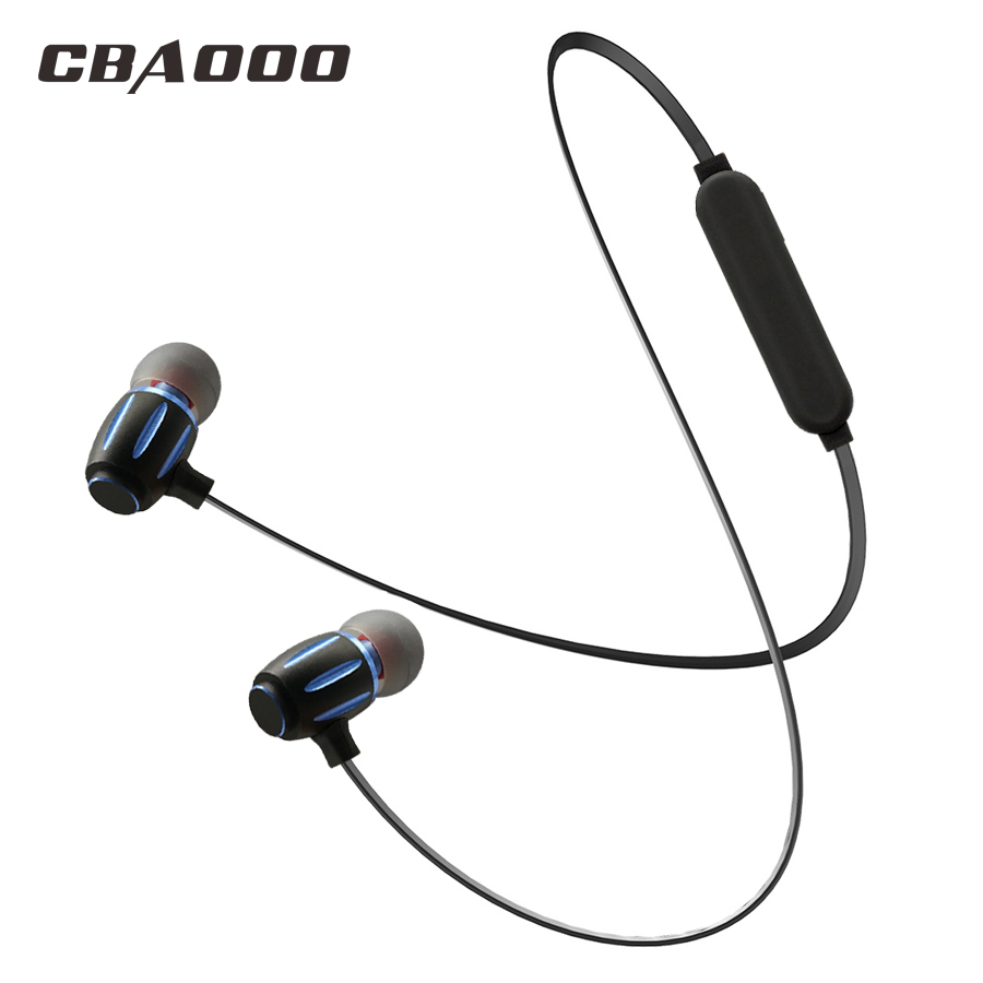 CBAOOO S11 Metal Bluetooth Earphone Sport Running Headsets With Mic In-Ear Wireless Earphones Bass Headset For iPhone Xiaomi torras earphone bass running sport for iphone 6 in ear earphone 3 5mm volume control headset earphones with micphone for samsung