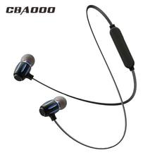 Cbaooo S11 Металл Bluetooth наушники Спорт Бег гарнитуры с микрофоном в ухе Беспроводной наушники Бас-гарнитура для iPhone Xiaomi