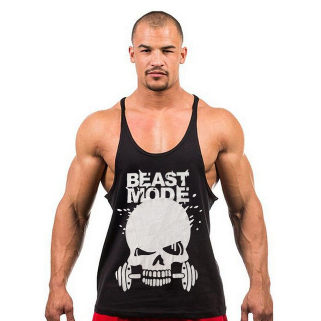 ffbd0fd34e12c Summer Mens Y Back Stringer Tank Tops Men Cotton Fitness Clothing  Bodybuilding Tank Top Workout Tank Casual Fitness Singlet X-21