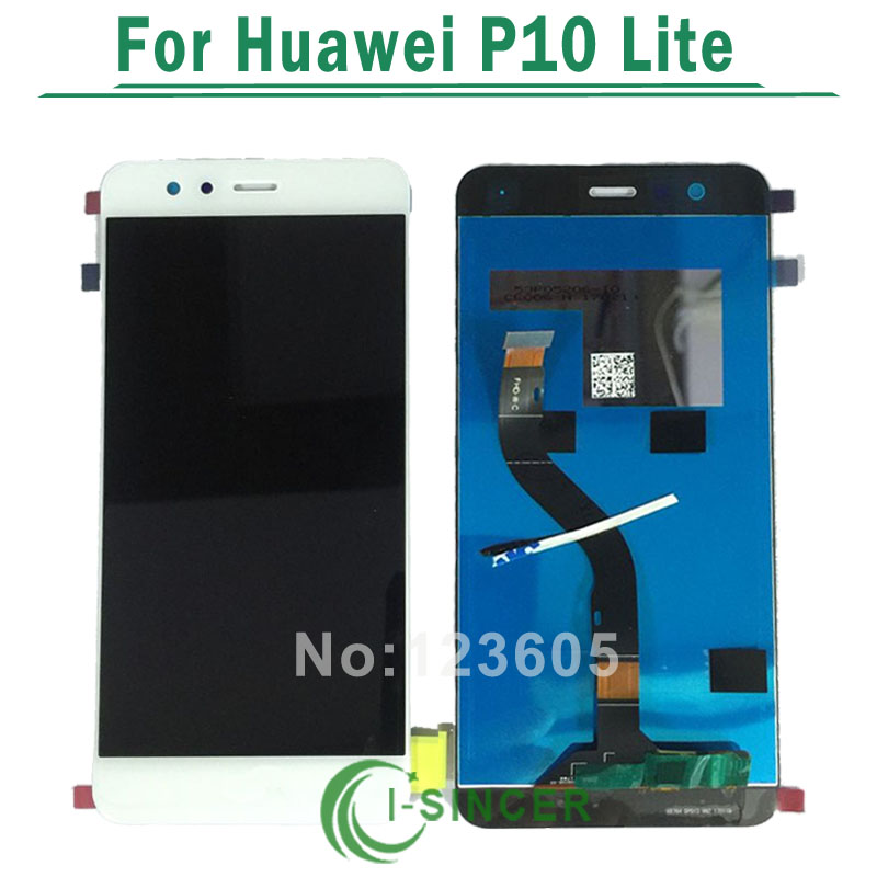 1/PCS New Arrival LCD for HuaWei P10 Lite LCD Screen Display+Touch Screen Digitizer Assembly Replacement Pantalla Free Shipping 5 0for huawei ascend p7 p7 l10 l09 lcd screen display touch screen digitizer assembly replacement pantalla repair parts