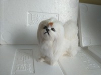 About 16x6x13cm Simulation Standing White Pekingese Dog Model Polyethylene Furs Handicraft Miniatures Decoration Toy Gift A2279