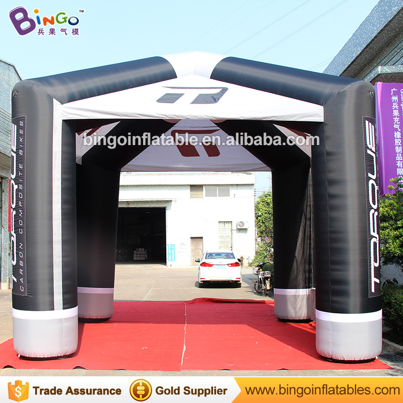 Free shipping 5X5X5 Meters inflatable cubic event tent decorative logo printing large cube shape tent inflatables toy tents inflatable cube helium advertising balloon with 6 sides digital printing logo for advertisement