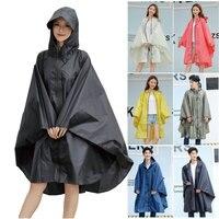 Mode Große Kappe Mit Kapuze Frauen graben Regenmantel Im Freien wasserdichte Lange Undurchlässig Regen Poncho Mantel für Wandern Klettern radfahren