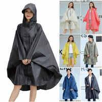 Gabardina con capucha para mujer, Impermeable, Impermeable, larga, Impermeable, Poncho capa tipo para senderismo, escalada y ciclismo