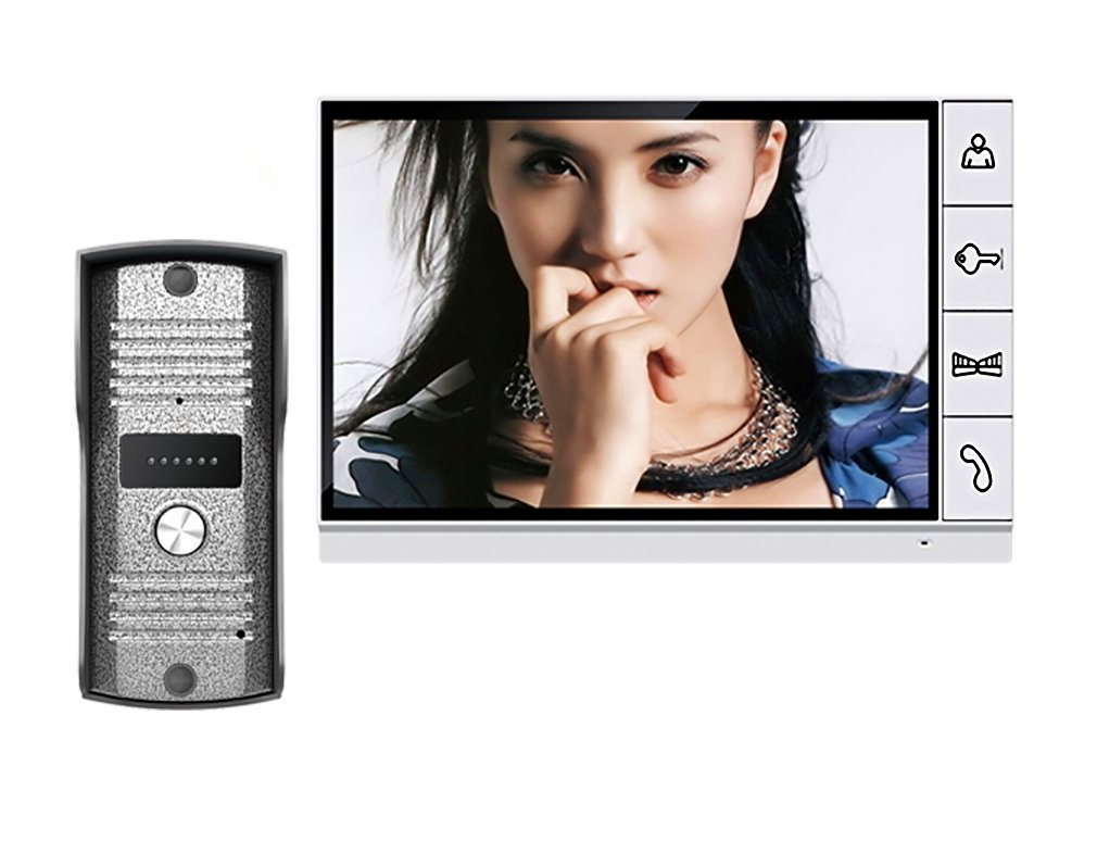 9 LCD Big Screen Wired Video Intercom Door Phone Support Picture Record Taking Photo Kit big picture atlas