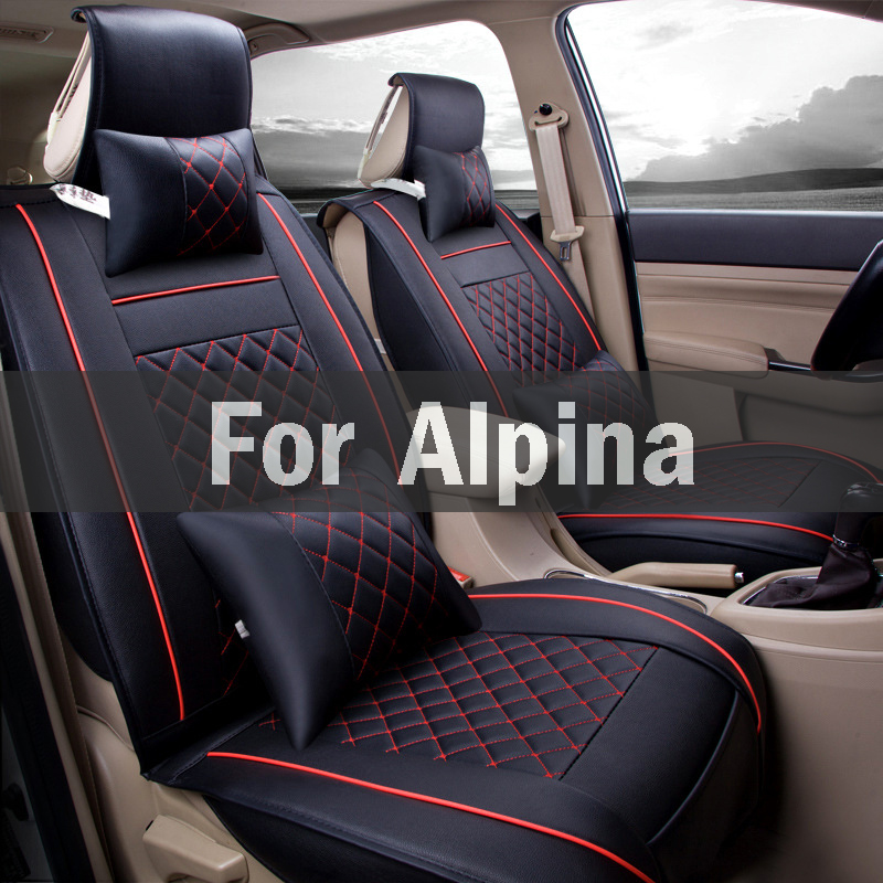 (Front+Rear)High Quality Leather Universal Car Seat Cushion Seat Covers For Alfa Romeo 147 156 159 166 4c 8c Brera