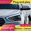 Hireno Headlamp For 2015 2017 Hyundai IX25 Headlight Assembly LED DRL Angel Lens Double Beam HID