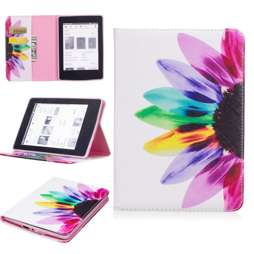 2017 New Smart Stand Painted Leather Case Cover For Amazon Kindle Paperwhite 1/2/3 6Inch ma03