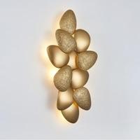 Nordic designer wall lamp bedroom bedside LED wall decoration lamp fashion luxury hotel golden corridor lamp