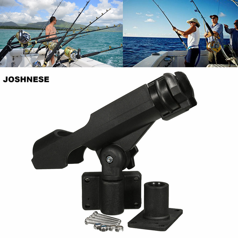JOSHNESE Fishing Rod Holder For Boats Fishing Tackle 360 Rotatable Fishing Support Rod Holder Bracket With Screws