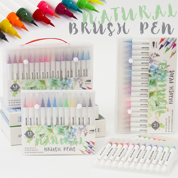 12/24/36/48  Brush Pens, Watercolor Paint Markers, Lettering Pen for Drawing, Coloring, Calligraphy calligraphy pen hand lettering pens brush lettering pens markers for writing drawing black ink pens art marker
