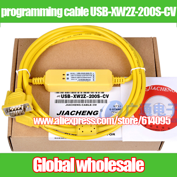 Cqm1 Cpm1 Cpm1a 2a C200he Hg Hx Hs 1pcs Plc Programming Cable For Omron Cs Cj Data Download Cable Usb-xw2z-200s-cv