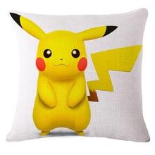 Pokemon Pikachu Cotton Linen Decorative Pillow Covers