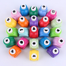 цены Baby Drawing Arts and Crafts for Kids Hole Punch Mini Printing Paper Hand Shaper Tag Card Craft DIY Punch Cutter Embossing Tool