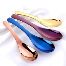 3Pcs 304 Stainless Steel Soup Spoons Chinese Silver Coffee Tea Dinner Gold Spoon Sets Kitchen Accessories