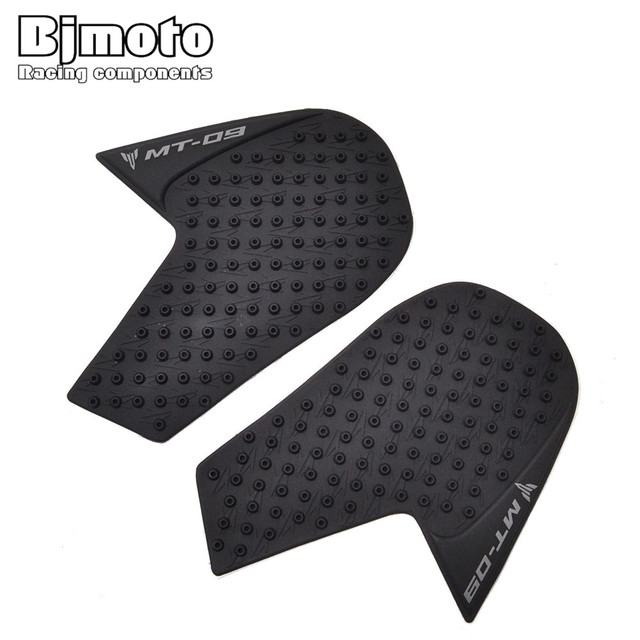 BJMOTO For Yamaha MT-09 2014-2018 Motorcycle Tank Pad Protector Sticker Decal Gas Knee Grip Tank Traction Pad Side Black