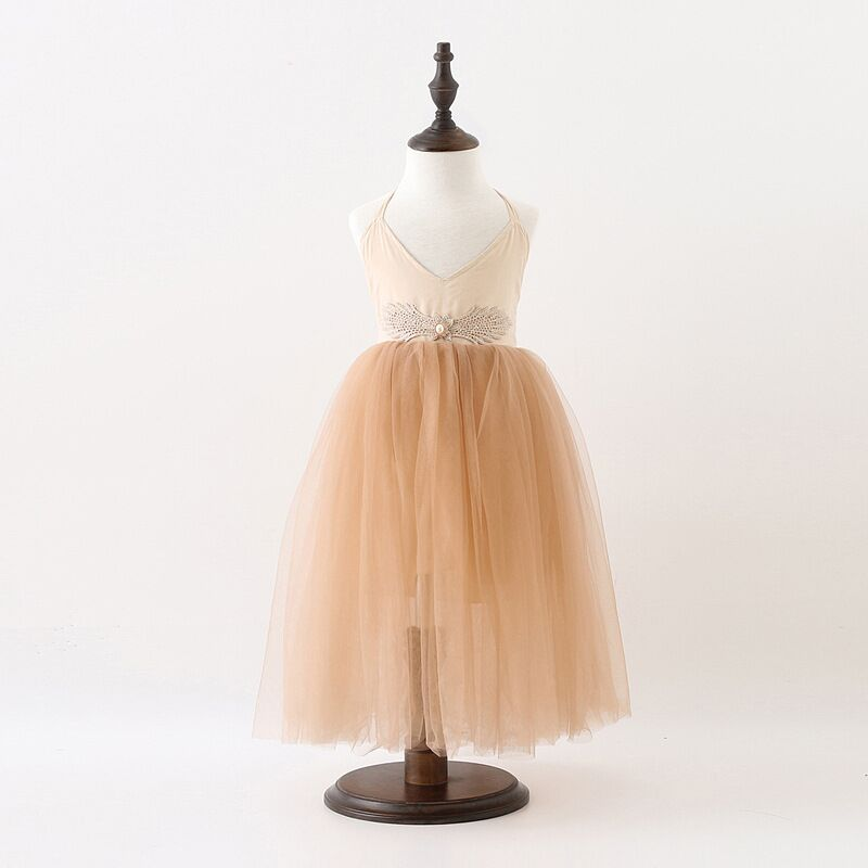 EMS DHL FREE Shipping 2016 girls summer dress baby children princess  tulle clothes Angel wings rhinestone party dress ems dhl free 2017 new lace tulle baby girls kids sleeveless party dress holiday children summer style baby dress valentine