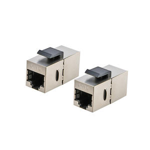 RJ45 Cat.6 inline coupler female shielded adapter for blank panel & faceplate