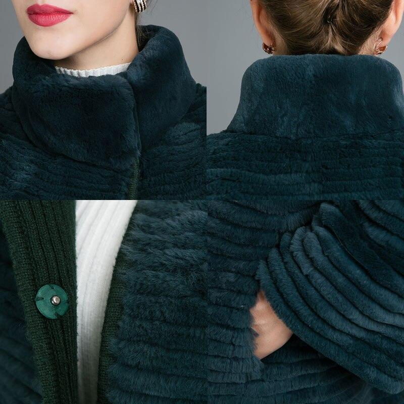 Fourrure Longues Long Personnalisable Femmes Beige Pour Femme Manteaux Manches De Luxe Rex Lapin D'hiver Sisilia Vestes À Élégant qHO8ztwqn