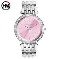 HM Brand Luxury Ladies Watch Stainless Steel Band Rose Gold Luxury Wristwatch For Women Girl Case Dress Clock Christmas Gift