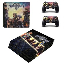 Kingdom Hearts 3 PS4 Pro Skin Sticker For Sony PlayStation 4 Pro Console and Controller For Dualshock 4 PS4 Pro Sticker Decal
