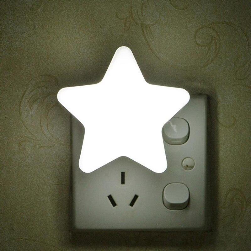 Image 5 - مصباح ليلي LED صغير جذاب على شكل نجمة الاتحاد الأوروبي/الولايات المتحدة AC110 220V مقبس بولج في السرير مصباح جداري مستشعر إضاءة تحكم بمصباح ليلي للأطفالمصابيح LED ليلية   -