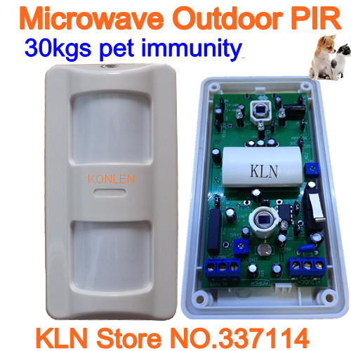 Outdoor Waterproof Micowave Pir Motion Sensor Immune to Interference from Pet up to 20kgs Anti false
