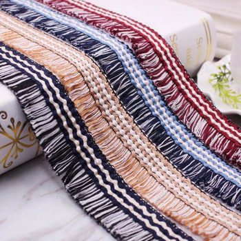 45yards Korean Small Fragrance Tassel Lace Trim Fabric Fringe Braid Ribbon DIY Clothing Sleeve Home Textile Hat Accessories