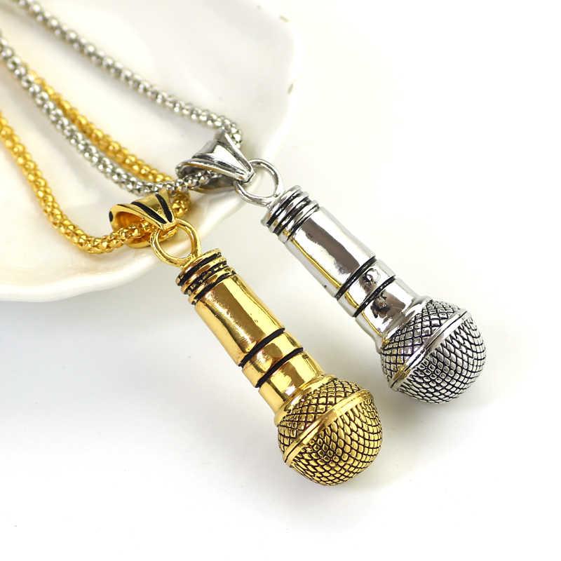 Fashion Style Best Friend mikrofon naszyjnik i wisiorek mężczyźni/kobiety stop złota kolor srebrny kolor biżuteria Rock łańcuch w stylu hip-hop Colar
