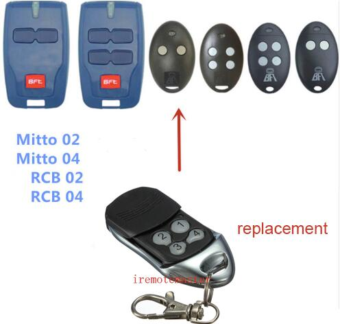 BFT Mitto 2 4, RCB02 RCB04 Replacement garage door remote control free shipping free shipping  metal garage door open