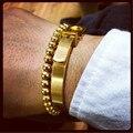 Punk Hot Men Woman Jewelry for Men gold Horseshoe Buckle Lovers Women Vintage Belt Buckle Stainless Steel Bracelets Bangles