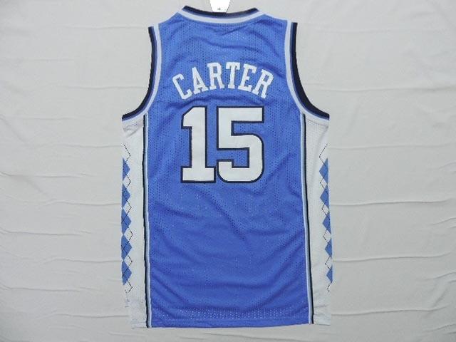 6e311a3563c6 23 Michael Jordan College jersey The University of North Carolina UNC 15  Vince Carter Men Blue White Basketball Jerseys-in Basketball Jerseys from  Sports ...