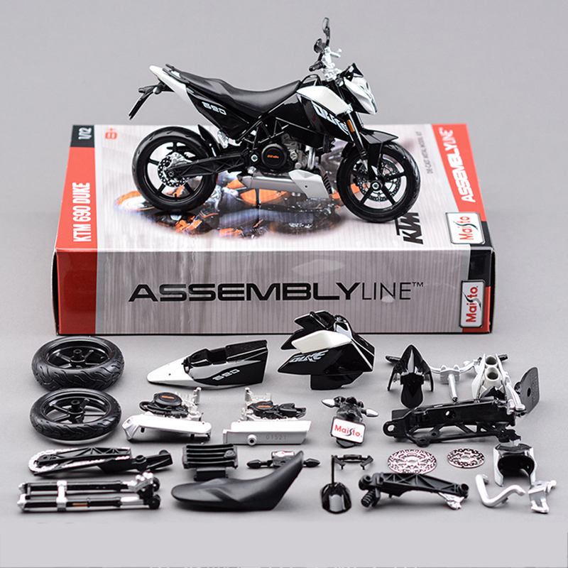 ktm 690 duke 3 motorcycle model building kits 112 assembly toy kids gift mini moto diy diecast models toy for gift collection